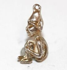 Pixie Elf Sterling Silver Vintage Bracelet Charm With Gift Box 4.2g
