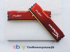 8GB Kit Kingston HyperX Fury DDR3 Memory 1866MHz PC3-14900 DIMM RAM CL10 240 Pin