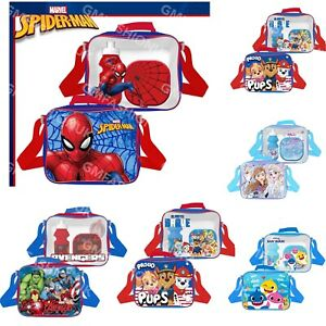 3Pcs Set Childrens Insulated Lunch Pack Bag Kids Boys Girls School Food Box