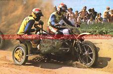 BIGGELAAR Cor Den BIJL van Der Side Car Cross Carte Postale Moto Postkarte