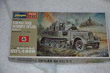 HASEGAWA 1/ 2 WWII German 8 Ton Half Track w quad 20mm AA  Flakvierling NIB