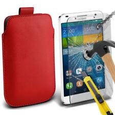 Cover e custodie pelle sintetici blu modello Per Huawei Ascend G per cellulari e palmari