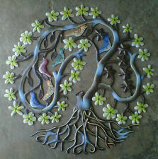 """Colored Tree of Life with Birds Wall Art Discount Home Decor Online Stores 24"""""""