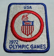 Vintage USA OLYMPIC 1972 Embroidered Patch - Munich - Cool Collectable Souvenir!