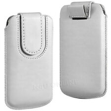 PREMIUM PU LEATHER PULL FLIP TAB CASE COVER POUCH WITH STRAP FOR SONY PHONES