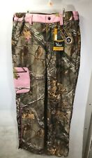 Browning Women's Hell's Belles Soft Shell Pants Realtree Xtra Size Large NEW