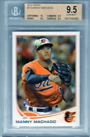 "2013 Topps #270  ""Manny Machado"" RC @LOOK@ BGS 9.5 ""Manny's on fire"" Padres xy4"
