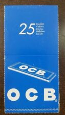 Ocb Lot of 25x50 70mm Cigarette Tobacco Rolling Papers Full Box Brand New