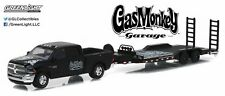 Gas Monkey Garage 2016 Dodge Ram 2500 + Heavy Duty Car Hauler 1/64 Diecast Model