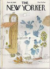 JUNE 16 1980 vintage NEW YORKER magazine BLUE BIRDS