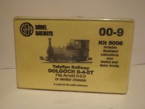 """GEM MODEL RAILWAYS 9006..A TALYLLYN RAILWAY """"DOLGOCH"""" 0-4-0T KIT..NEW/BOXED 009."""