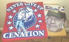 John Cena WWE Classic Red Never Give Up Cenation  XL T-Shirt
