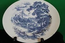Vintage Decorative Ceramic Blue Onion Wedgewood Tunstall Serving Platter