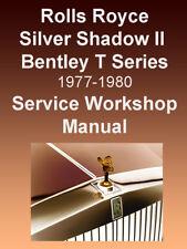 ROLLS ROYCE SILVER SHADOW II Wraith II 1977-80 WORKSHOP MANUAL - SEARCHABLE DVD