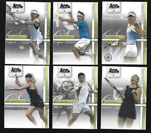 2007 Ace Authentic Straight Sets 50 card set Novak Djokovic, Federer, Nadal ++