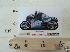 STICKER,DECAL MOTO GP HONDA 125 HANS SPAAN NO 27 SAMSON,SHARP,SHELL QUADRO