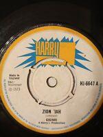 "Giginri – Zion 'Iah 7"" Vinyl Single 1973"