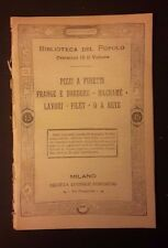 PIZZI A FUSETTI FRANGE MACRAME FILET CUCITO RETE N. 306 FINE '800 INIZI '900