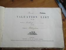 RARE 1863 HAND WRITTEN NEWARK UNION VALUATION LIST FOR THE VILLAGE BESTHORPE