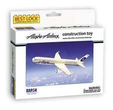 BEST LOCK ALASKA AIRLINES AIRPLANE CONSTRUCTION TOY 55 PIECE BRICK TOY W/FIGURE