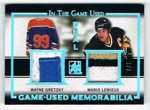 2016-17 ITG Used Dual Patch Silver Spectrum Wayne Gretzky / Mario Lemieux 1/2