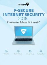 F-Secure Internet Security 2018 1 PC - 1 Jahr, Download, Deutsch, Vollversion