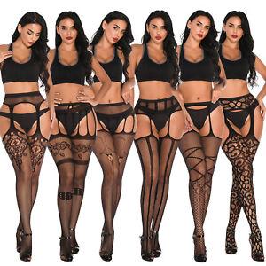 Women's Fishnet Thigh-High Stockings Tights Suspender Pantyhose Stocking Hosiery