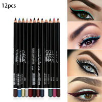 12 Color Cosmetics Makeup Pen Waterproof Eyebrow Eye Liner Lip Eyeliner Pencil