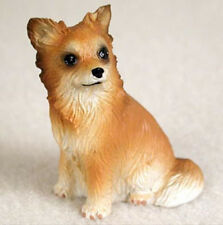 CHIHUAHUA TINY ONES DOG Figurine Statue Pet Lovers Gift Resin Long Hair