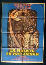 """LUIS BUNUEL """"LA MUERTE EN ESTE JARDIN"""" MEXICAN MOVIE POSTER 1956"""