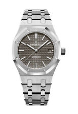 Audemars Piguet Royal Oak Selfwinding (15450ST.OO.1256ST.02) Women's Stainless Steel Wristwatch with Ruthenium Dial