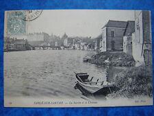 SABLE-SUR-SARTHE  :  La Sarthe et le Château.