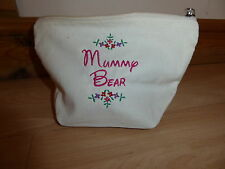Personalised Embroidered Your Own Message Any text Make Up Cosmetic Wash Bag