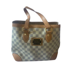 LOUIS VUITTON Authentic Damier Azur Hampstead PM Bag