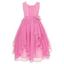kids Girls Princess Dress Party Chiffon Irregular Dress Pageant Prom Bridesmaid