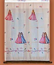 Rideau - voilage chambre fille,   Barbie - Princesse , largeur 122cm