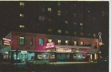 Chicago IL Hotel Maryland at Night 900 N. Rush Postcard 1954
