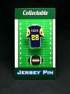 Los Angeles Rams Marshall Faulk jersey lapel pin-Classic throwback Collectible