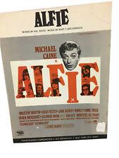 """Alfie Sheet Music """"Alfie's Theme"""" Michael Caine 1966 Vintage hal David"""