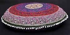 """Large Indian 32"""" Mandala Round Cushion Cover Pouf Meditation Floor Pillow Cover"""