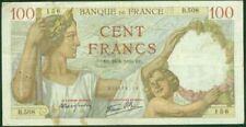 Billets de la banque française 100 Francs sur Sully