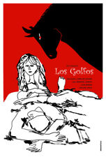 Movie Poster 4 film Los Golfos.Spain.Black bull.Red.Room home art decor design