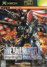Metal Wolf Chaos Xbox JAPAN NEW