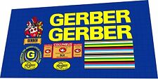 GERBER Cyclo-Cross 1978-1981 Frame Sticker / Decal Set