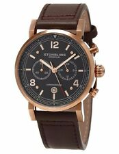 Stuhrling Original Chronograph Aviator (583 03) Quartz - Leather- Mens Watch