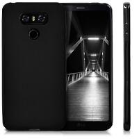 Black Ultra Slim Lightweight Soft TPU Silicone Gel Back Case Cover For LG G6