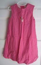 Girls 5 Baby Gap Kids Pink Linen Cotton Embroidered Flower Pot Dress & Bloomers