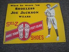 """Vintage"" SELZ SHOES ""JOE JACKSON"" METAL SIGN"