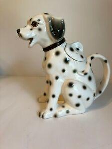 Vintage Hand Painted Dalmation Dog Pitcher Takahashi Same Day Ship