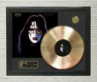 KISS Ace Frehley Framed Legends Of Music Gold LP Record Display